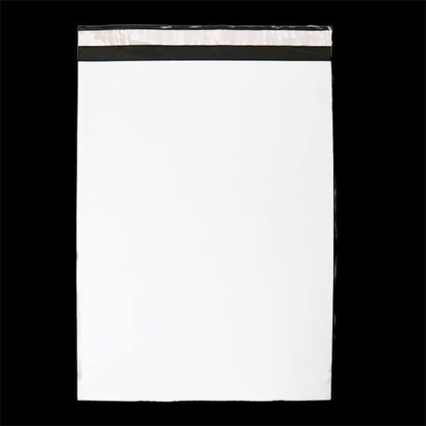 画像1: 宅配ビニール袋 A3サイズ 白 340x450+50mm #60 (1)