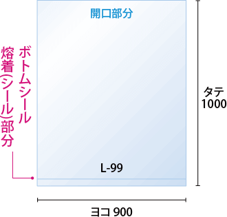ヨコ900xタテ1,000mm